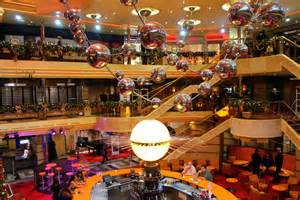 Carnival ships are known for a very loud style of interior design