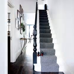 Grey Stair Runner sophisticated hallway modern hallway designs