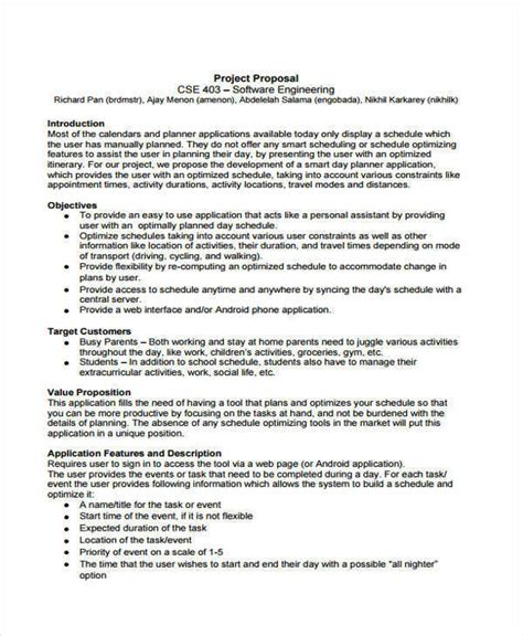 engineering proposal templates 10 free word pdf format