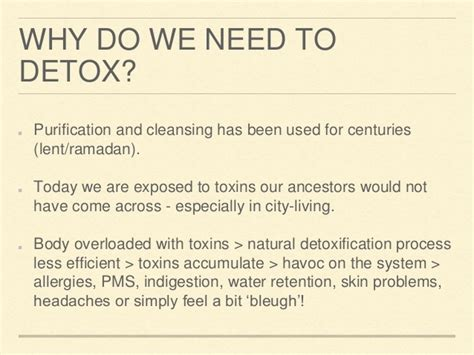 Do We Need To Detox detox cleansing workshop