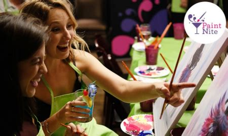 paint nite groupon montreal paint nite 35 for one admission for a painting