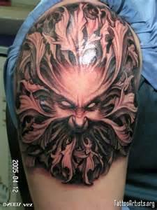 green man tattoo tattoo designs pinterest