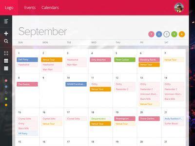 design calendar for website calendar design website aztec online