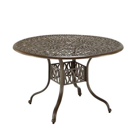 patio dinning table hton bay mix and match 42 in round mesh outdoor patio