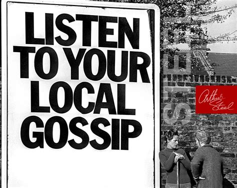 listen to your local gossip rare photographic prints by
