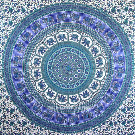 blue hippie floral mandala tapestry bedspread bed cover blue hippie floral mandala tapestry bedspread bed cover