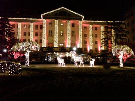 lighting of the christmas tree at the greenbrier resort