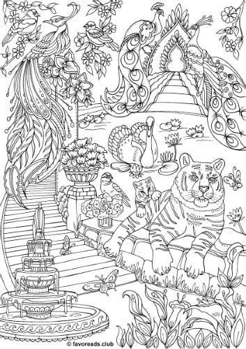 The Land of Fantasia - Fantasy Garden - Printable Adult
