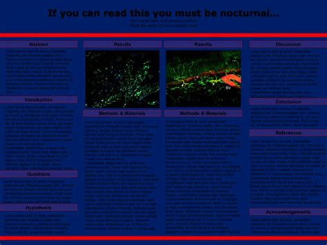 Scientific Poster Design and Layout   Fonts, Colors