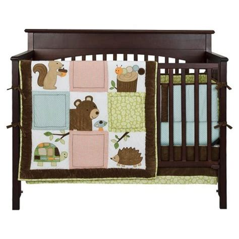 Full Crib Size Tiddliwinks Woolrich Woodland 3 Pc Woodland Nursery Bedding Set