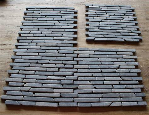 steinfliesen grau 1m 178 st 228 bchen mosaik marmor riemchen fliesen naturstein