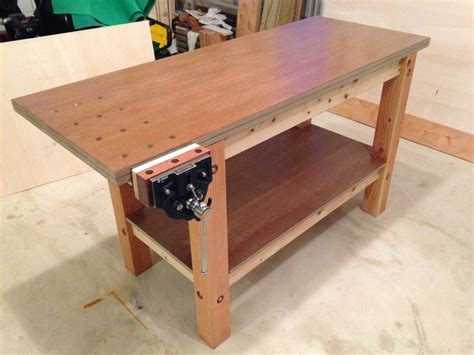 my first work bench my first woodworking project a workbench by kenyon94