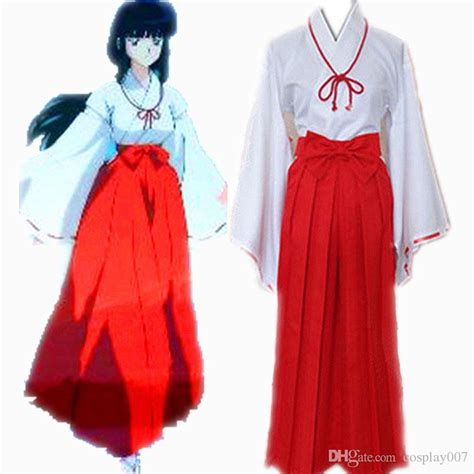 kikyou costumes japanese anime inuyasha clothing