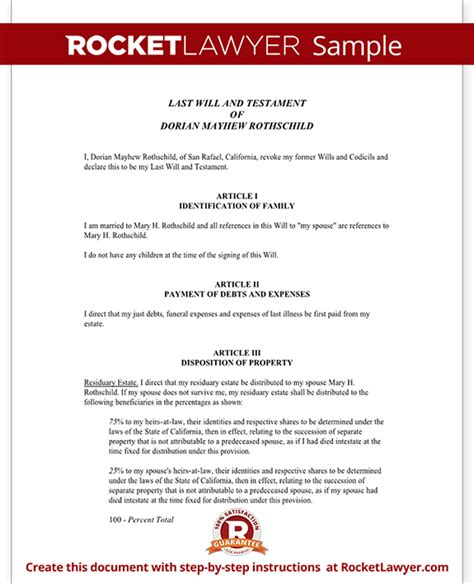 joint will and testament template joint will for married couples with no children rocket
