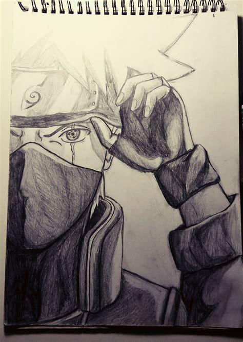 Tempat Pensil Pencil Anime Shippuden Uzumaki kakashi sharingan pencil drawing learning to draw