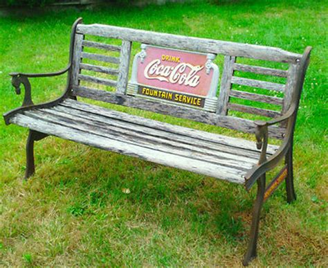 www service bench com 2 original cast iron coca cola fountain service bench side