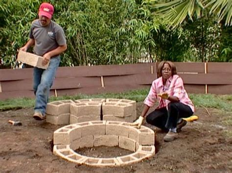 backyard fire pit diy how to construct a firepit how tos diy
