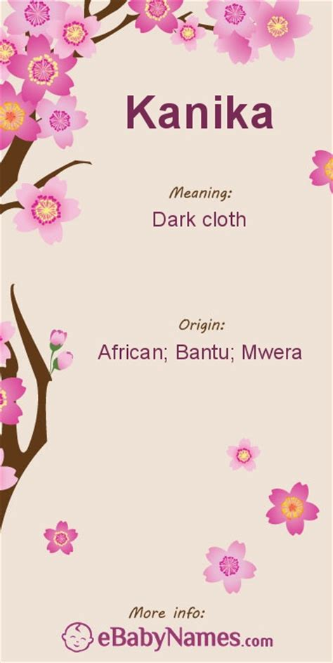 Letter Kanika meaning of kanika cloth