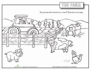 farm animals worksheet education com