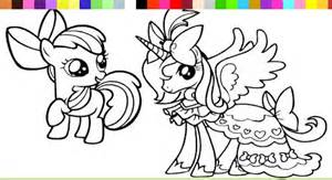 download princess pony coloring game android appszoom