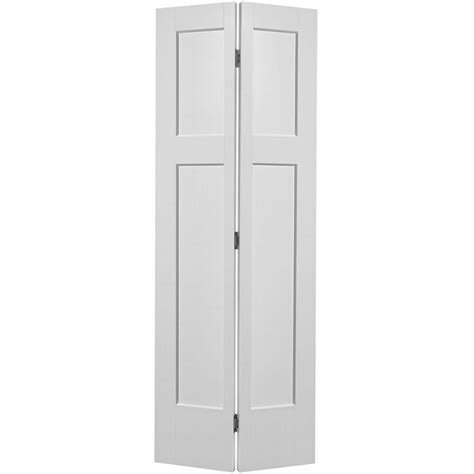 4 panel bifold closet doors masonite 30 in x 80 in winslow primed 4 panel hollow