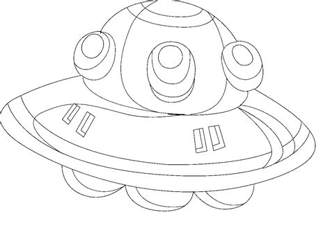 free coloring pages of the flying saucer