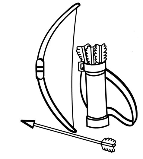 minecraft coloring pages bow and arrow archery clipart clipart best