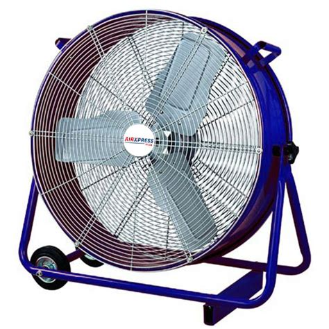 big air 24 drum fan with tilting feature 900mm drum fan airxpress hire