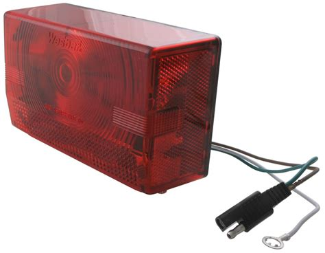wesbar waterproof trailer lights wesbar submersible tail light right curbside black