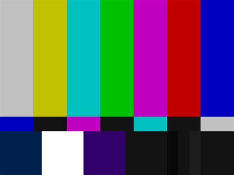 smpte color bars test card