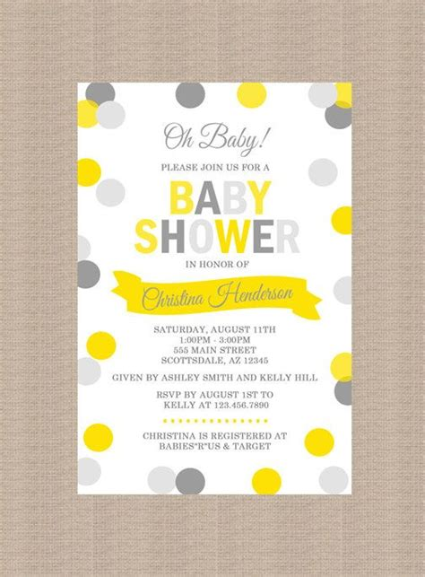 Yellow And Grey Baby Shower Invitations by Best 25 Gray Baby Showers Ideas On Pink Baby