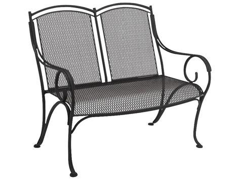 wrought iron storage bench woodard modesto wrought iron bench 260004