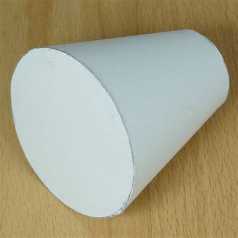 How To Make Cylinder With Paper - paper tapared cylinder truncated cone or conical frustum