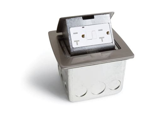 Lew Electric PUFP CT BK Pop Up Countertop Box w/ 2 GFI 20A Power Outlets   Assorted Colors