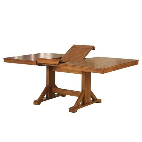 Extendable Wood Dining Table Extendable Trestle Wood Dining Table In Antique Brown Tw60wab