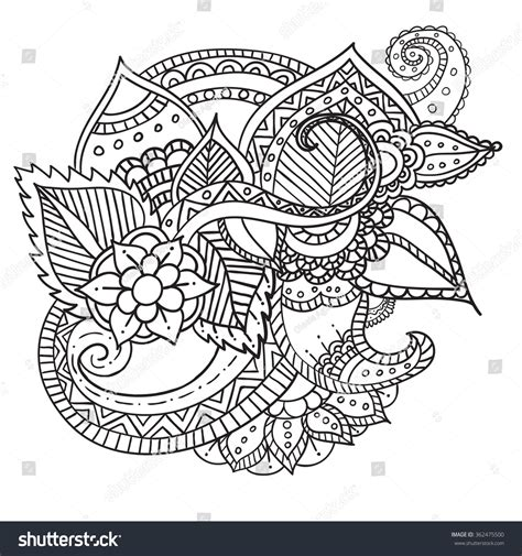coloring book paper stock artistic ethnic ornamental patterned stock