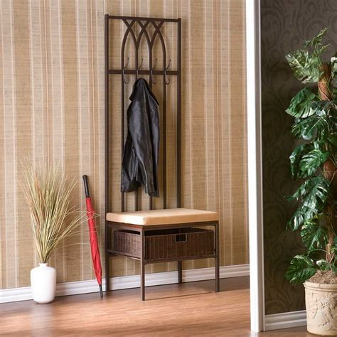 small hall tree bench small entryway bench ideas this for all