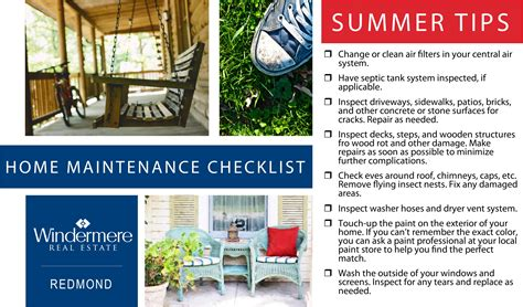 tips house home maintenance checklist summer tips robyn ayala
