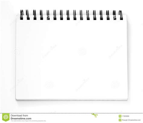 sketchbook vector empty sketchbook royalty free stock images image 17003899