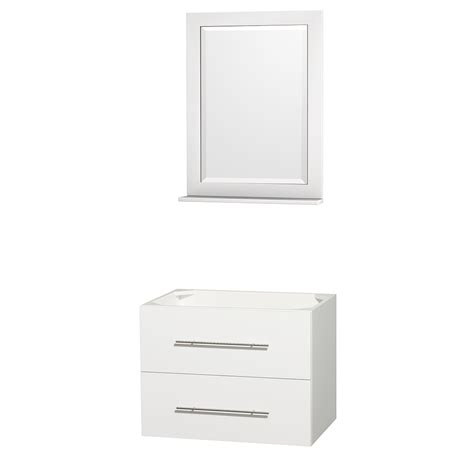 Bathroom Vanity No Sink Wyndham Collection Wcvw00930swhcxsxxm24 Centra 30 Inch Single Bathroom Vanity In White No