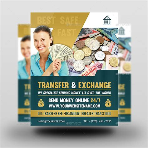 Transfer Exchange Money Flyer Template By Owpictures Graphicriver Money Flyer Template