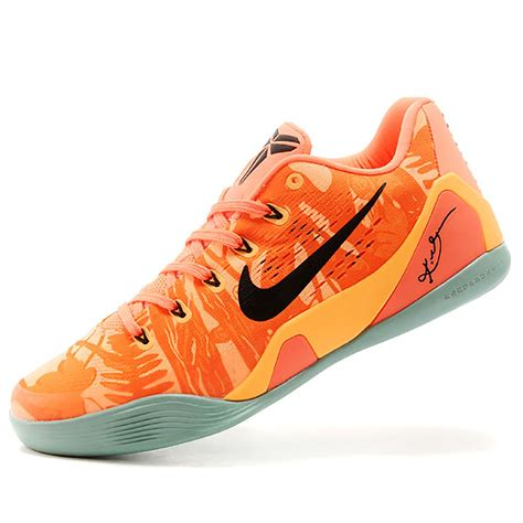 bryant basketball shoes nike bryant 9 premium orange mens basketball shoes