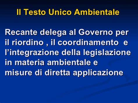 testo unico ambientale legislazione ambiente testo unico ambientale d lgs 152 2006