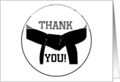 Thank You Note To Karate Martial Arts Greeting Cards From Greeting Card Universe