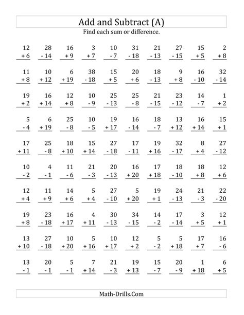Math Facts Addition Worksheet by Worksheets Addition And Subtraction Facts To 20 Worksheet