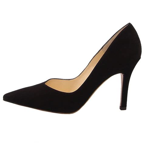 black pointed toe high heels kaiser dione classic high heel court shoe black