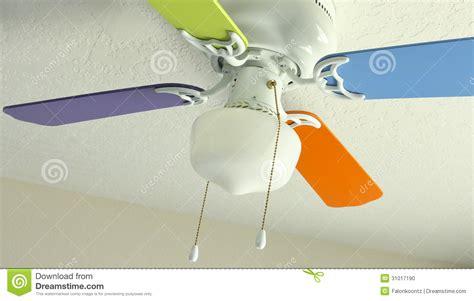 soffitto colorato ventilatore da soffitto colorato fotografia stock