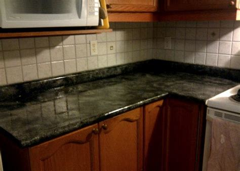 Just Countertops - faux granite countertop just a paint and a lot of