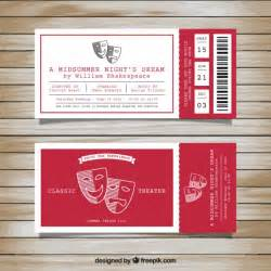 play ticket template tickets for classic theater vector free