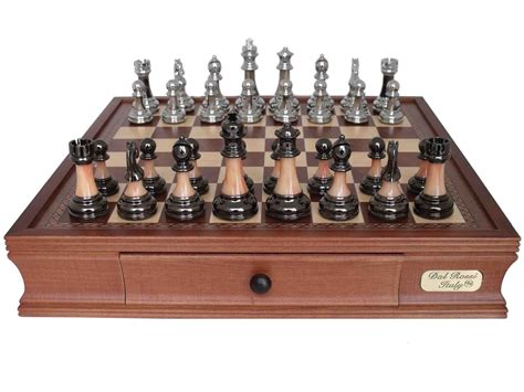 metal chess set dal rossi italy metal marble finish chess set 2026dr